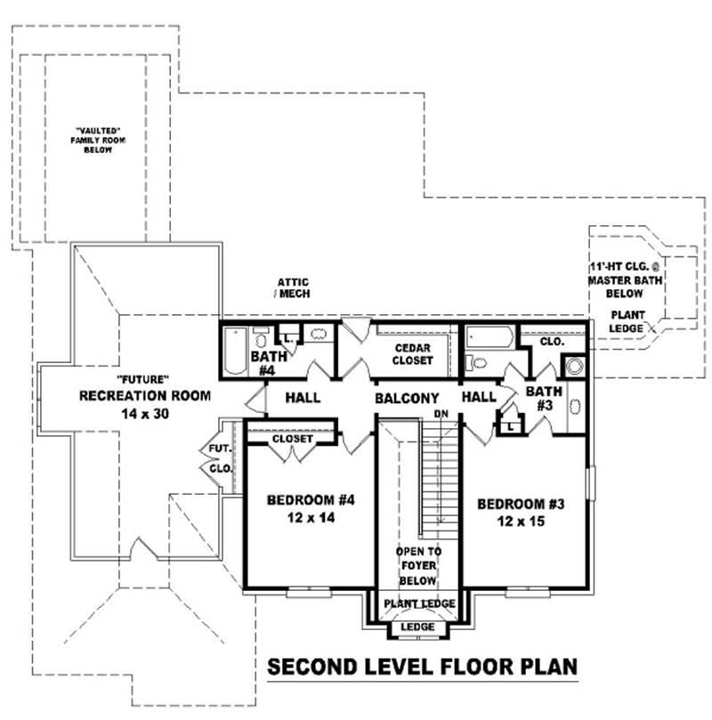 Traditional French House Plans Home Design Su B2341 824