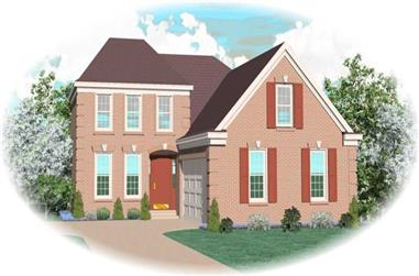 3-Bedroom, 2674 Sq Ft Traditional House Plan - 170-2103 - Front Exterior