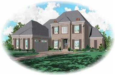 3-Bedroom, 3234 Sq Ft Country Home Plan - 170-2111 - Main Exterior