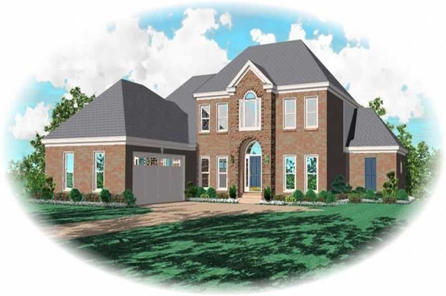 3-Bedroom, 3207 Sq Ft French Home Plan - 170-2112 - Main Exterior