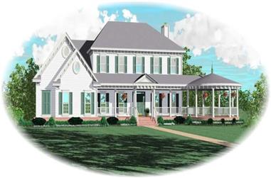 4-Bedroom, 3546 Sq Ft Country Home Plan - 170-2120 - Main Exterior