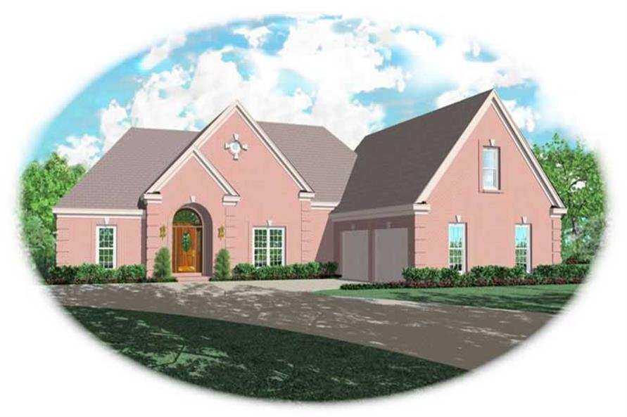3-Bedroom, 2765 Sq Ft French Home Plan - 170-2121 - Main Exterior