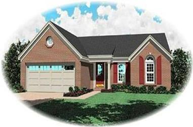 3-Bedroom, 1199 Sq Ft Ranch Home Plan - 170-2123 - Main Exterior