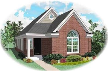 2-Bedroom, 1255 Sq Ft Bungalow Home Plan - 170-2125 - Main Exterior