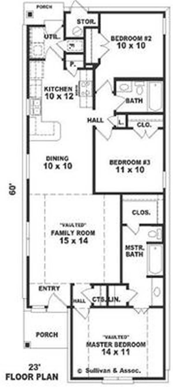 Long Bungalow House Plans