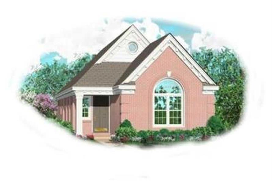 3-Bedroom, 1271 Sq Ft Bungalow Home Plan - 170-2126 - Main Exterior