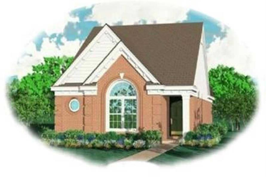 3-Bedroom, 1270 Sq Ft Bungalow House Plan - 170-2127 - Front Exterior