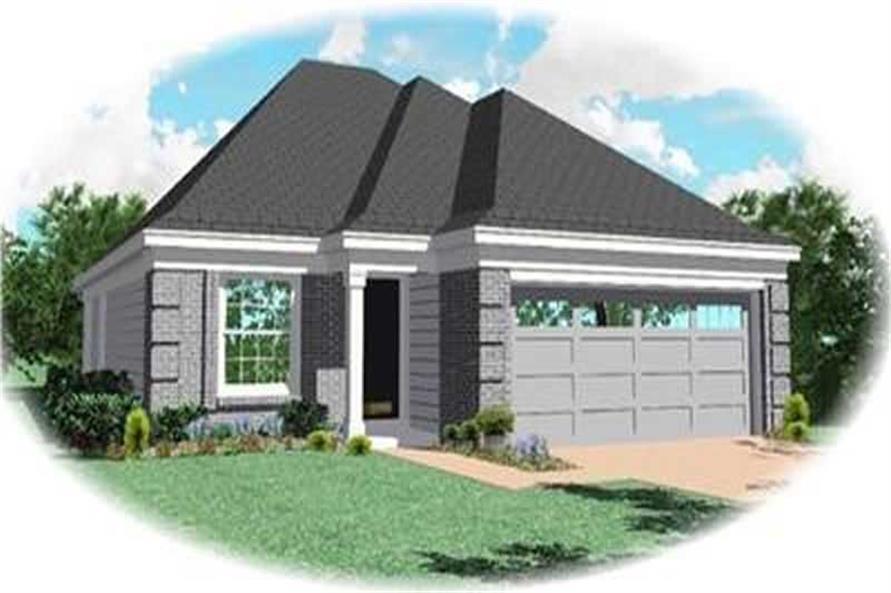 3-Bedroom, 1316 Sq Ft Bungalow House Plan - 170-2129 - Front Exterior
