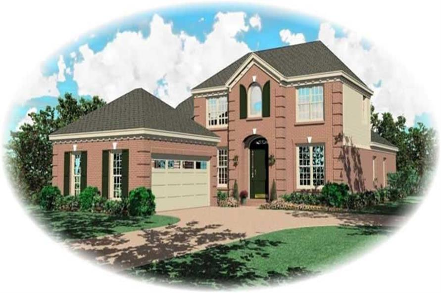 4-Bedroom, 2465 Sq Ft French Home Plan - 170-2131 - Main Exterior