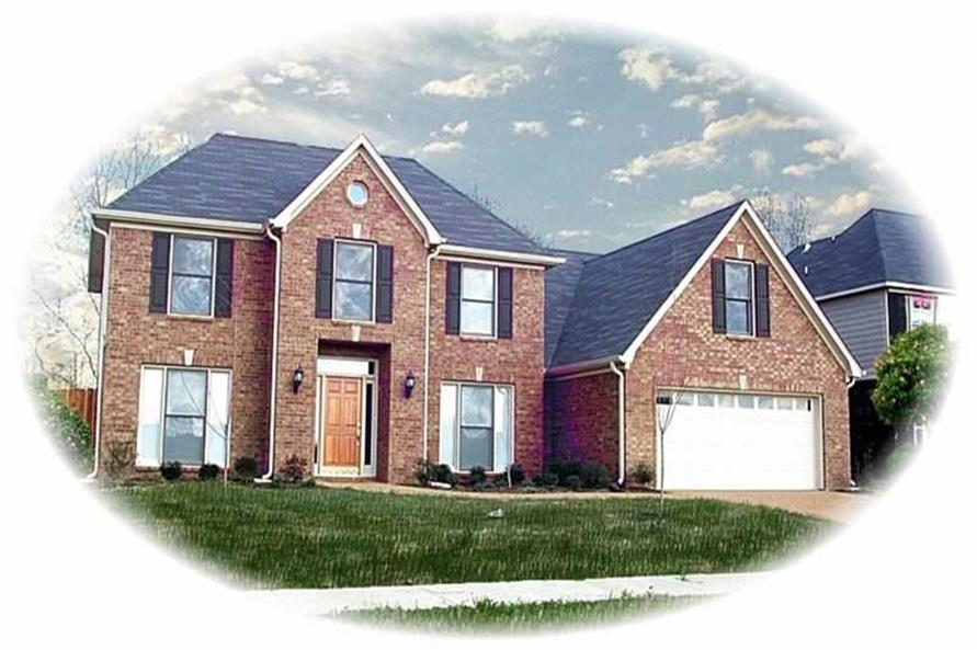 4-Bedroom, 3142 Sq Ft Traditional Home Plan - 170-2132 - Main Exterior