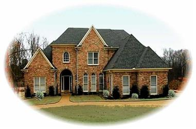 3-Bedroom, 3722 Sq Ft French House Plan - 170-2133 - Front Exterior