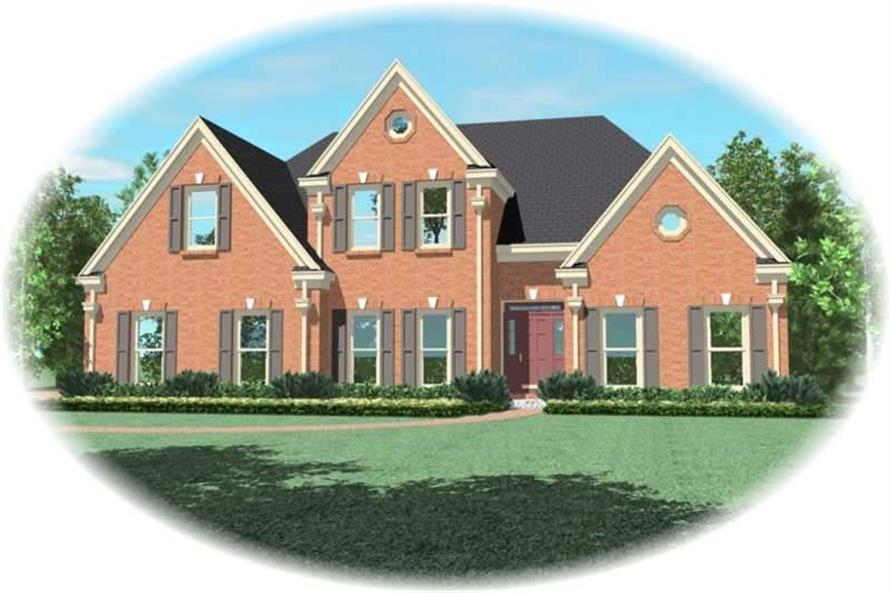 4-Bedroom, 2962 Sq Ft French House Plan - 170-2145 - Front Exterior