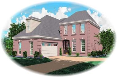 3-Bedroom, 2286 Sq Ft French House Plan - 170-2151 - Front Exterior