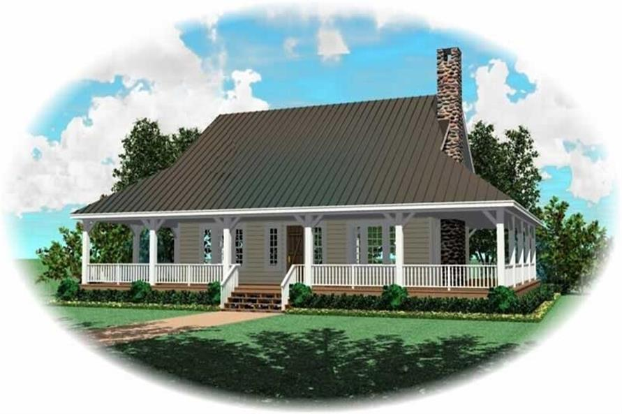 3-Bedroom, 2400 Sq Ft Country House Plan - 170-2152 - Front Exterior