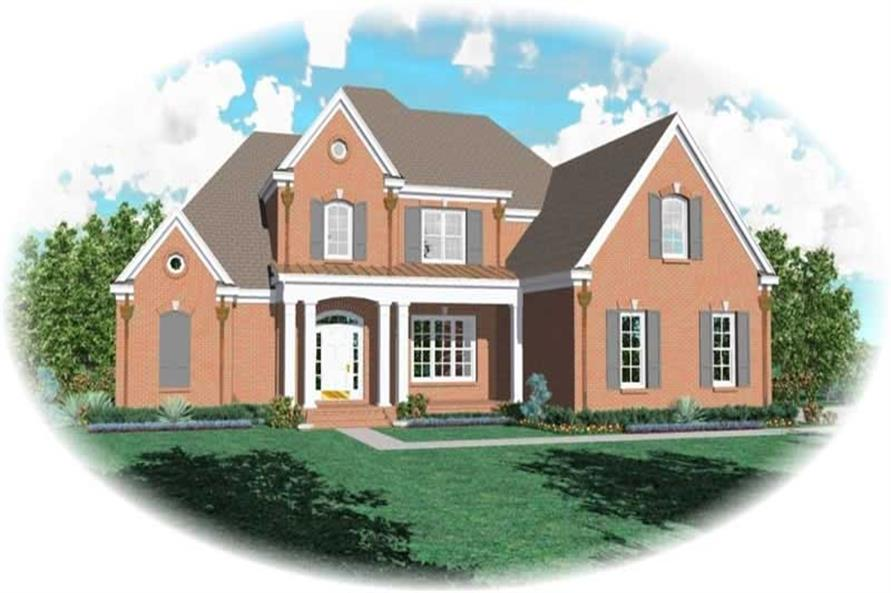 4-Bedroom, 3802 Sq Ft Luxury Home Plan - 170-2159 - Main Exterior