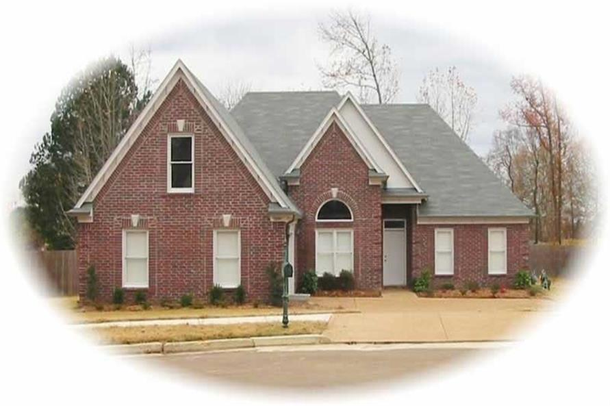 3-Bedroom, 2150 Sq Ft French House Plan - 170-2164 - Front Exterior