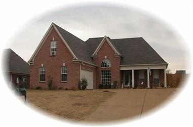 3-Bedroom, 2201 Sq Ft French House Plan - 170-2165 - Front Exterior