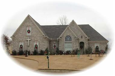 3-Bedroom, 1843 Sq Ft French Home Plan - 170-2181 - Main Exterior