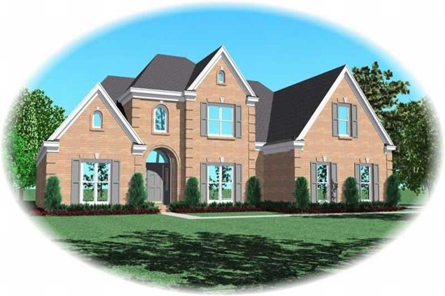 4-Bedroom, 3326 Sq Ft French Home Plan - 170-2187 - Main Exterior