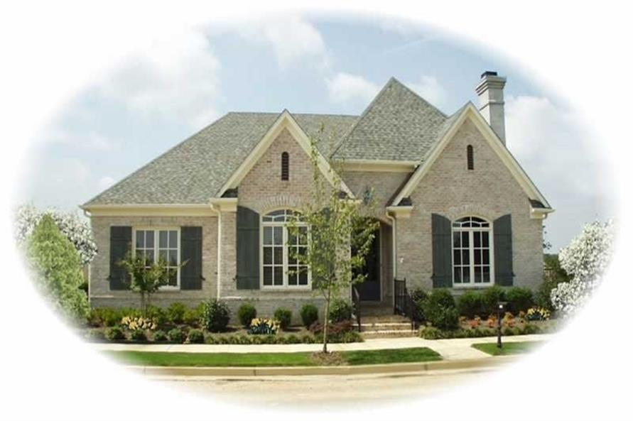 3-Bedroom, 2762 Sq Ft French House Plan - 170-2190 - Front Exterior