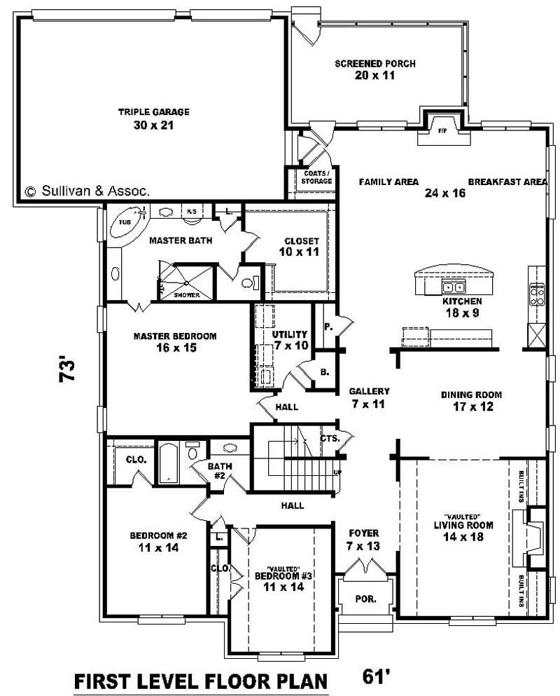 French house plans home design su b2739 1436 f 10966 for Floor plan in french