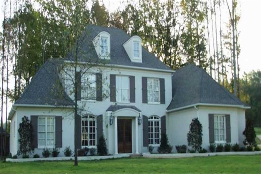 5-Bedroom, 5872 Sq Ft French Home Plan - 170-2193 - Main Exterior