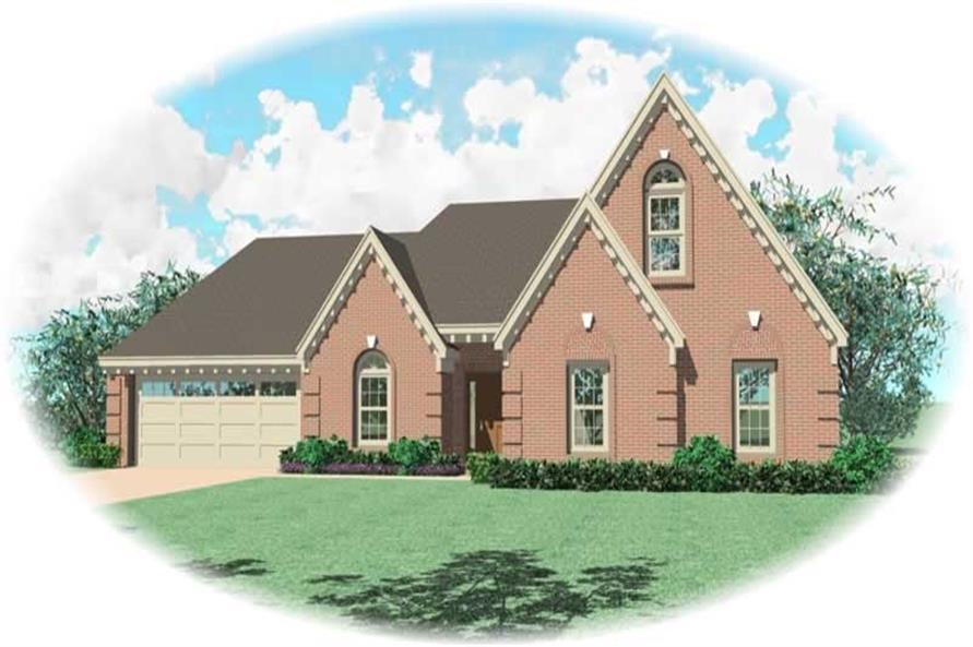 3-Bedroom, 1846 Sq Ft French House Plan - 170-2197 - Front Exterior
