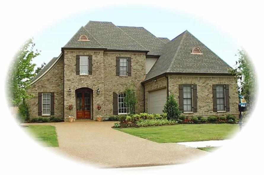 4-Bedroom, 3539 Sq Ft French House Plan - 170-2199 - Front Exterior