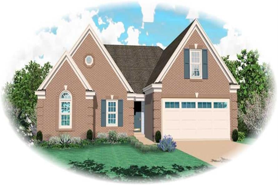 3-Bedroom, 1962 Sq Ft Traditional Home Plan - 170-2202 - Main Exterior