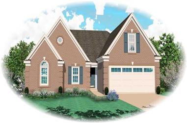 3-Bedroom, 1962 Sq Ft Traditional Home Plan - 170-2203 - Main Exterior