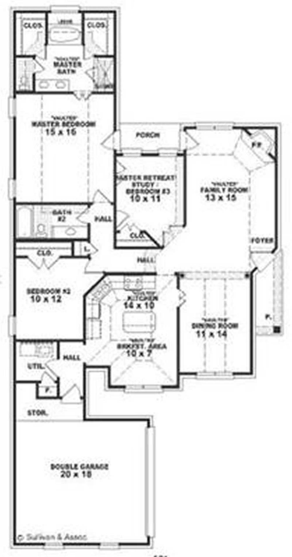 Large Images For House Plan 170 2207