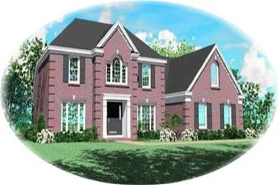 3-Bedroom, 2688 Sq Ft Colonial Home Plan - 170-2210 - Main Exterior