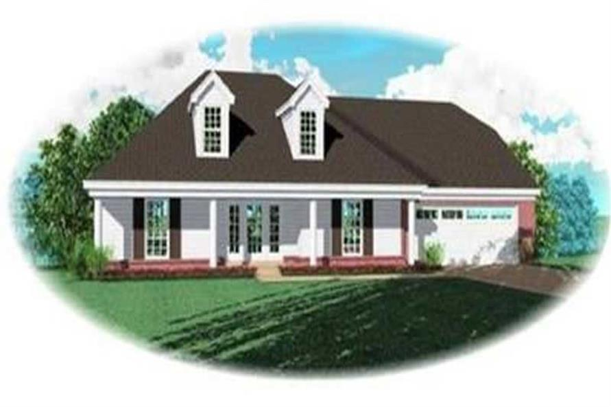 3-Bedroom, 2507 Sq Ft Country Home Plan - 170-2213 - Main Exterior