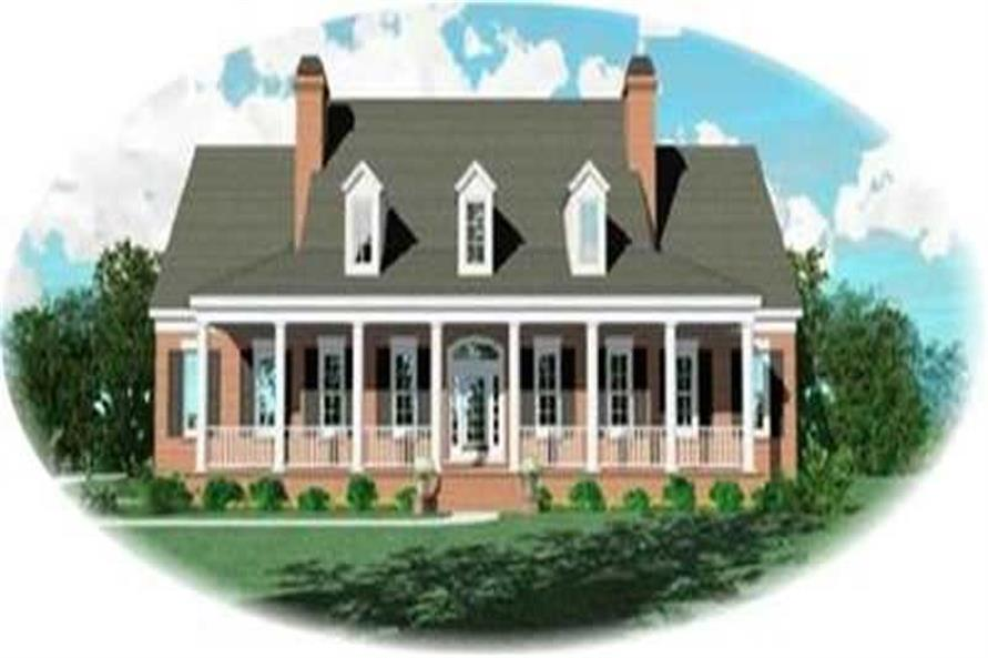 4-Bedroom, 4666 Sq Ft Country Home Plan - 170-2214 - Main Exterior