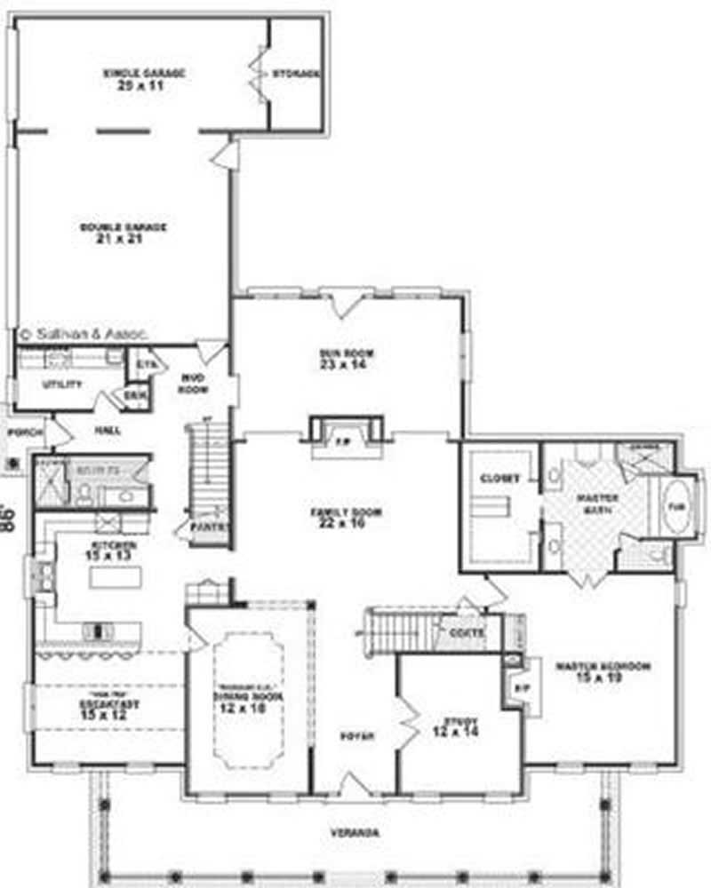 Country luxury southern farmhouse house plans home for Southern luxury house plans