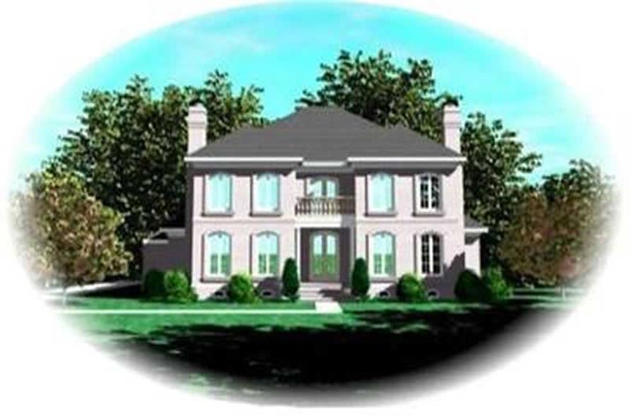 4-Bedroom, 4850 Sq Ft Colonial Home Plan - 170-2215 - Main Exterior