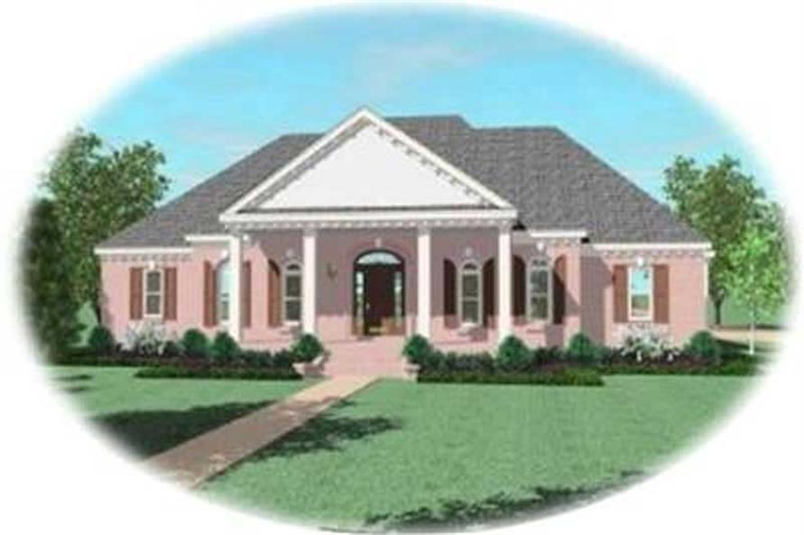 3-Bedroom, 3761 Sq Ft Colonial Home Plan - 170-2216 - Main Exterior