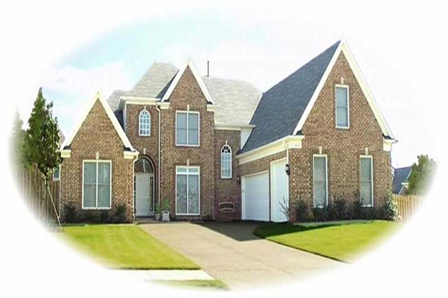 4-Bedroom, 3122 Sq Ft French House Plan - 170-2222 - Front Exterior