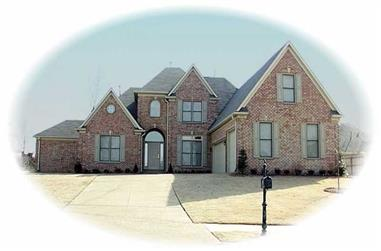 4-Bedroom, 3768 Sq Ft French House Plan - 170-2223 - Front Exterior