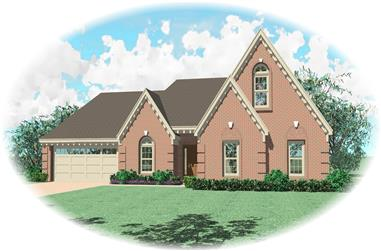 3-Bedroom, 2105 Sq Ft French House Plan - 170-2229 - Front Exterior