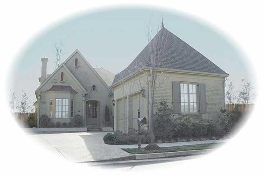 3-Bedroom, 3207 Sq Ft French House Plan - 170-2230 - Front Exterior