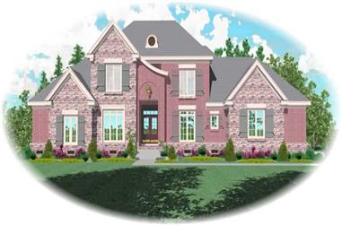 4-Bedroom, 3554 Sq Ft French Home Plan - 170-2234 - Main Exterior