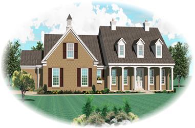 3-Bedroom, 3097 Sq Ft Cape Cod Home Plan - 170-2235 - Main Exterior