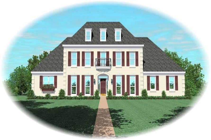 3-Bedroom, 3315 Sq Ft French Home Plan - 170-2237 - Main Exterior