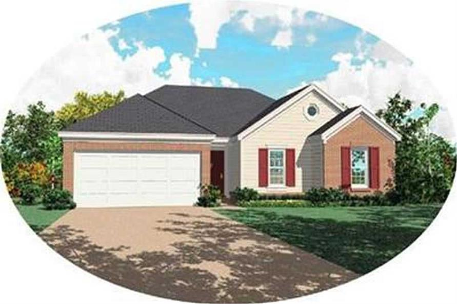 3-Bedroom, 1266 Sq Ft Contemporary House Plan - 170-2244 - Front Exterior