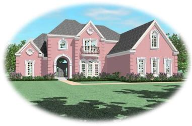 3-Bedroom, 3703 Sq Ft French House Plan - 170-2245 - Front Exterior