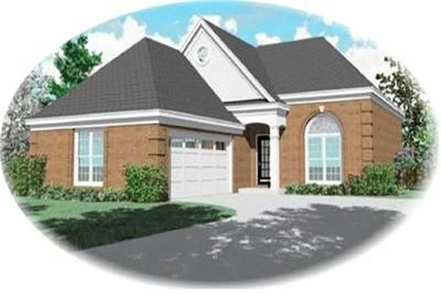 3-Bedroom, 1806 Sq Ft Contemporary House Plan - 170-2247 - Front Exterior