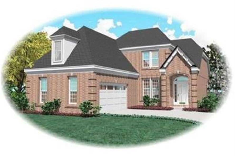 3-Bedroom, 2333 Sq Ft Contemporary House Plan - 170-2252 - Front Exterior