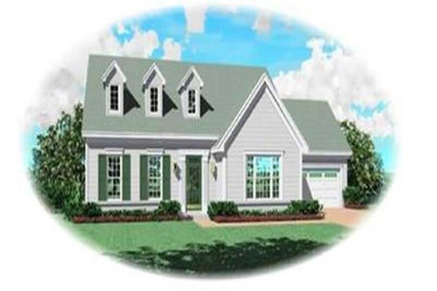 3-Bedroom, 2048 Sq Ft Cape Cod Home Plan - 170-2253 - Main Exterior