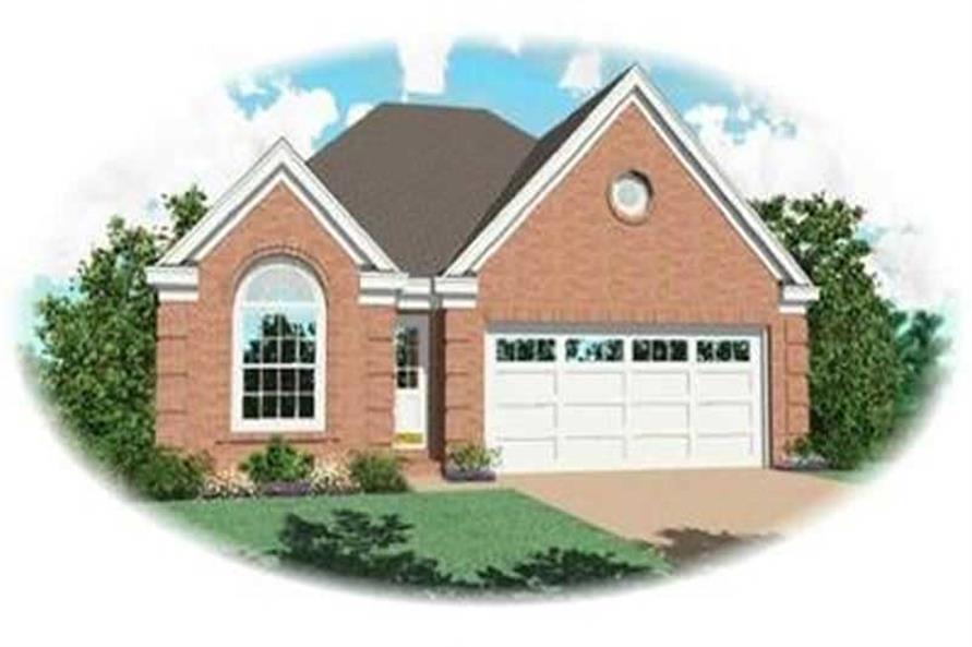 3-Bedroom, 1363 Sq Ft Bungalow Home Plan - 170-2254 - Main Exterior